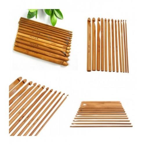 Häkelnadel-Set aus Bambus - 12 Größen - Bild 1