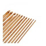 Häkelnadel-Set aus Bambus - 12 Größen - Bild 2
