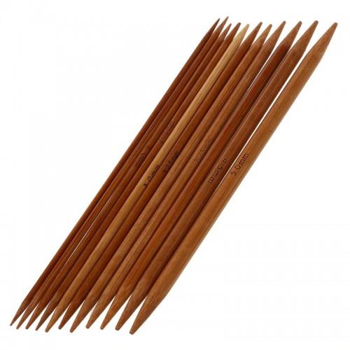 11-teiliges Stricknadel-Set aus Bambus - Bild 1