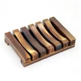 Seifenschale aus Bambus - rustikal - 1