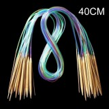 18-teiliges Set Rundstricknadeln Multicolor aus Bambus - 5