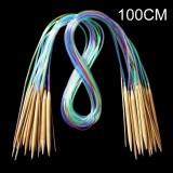 18-teiliges Set Rundstricknadeln Multicolor aus Bambus - 8